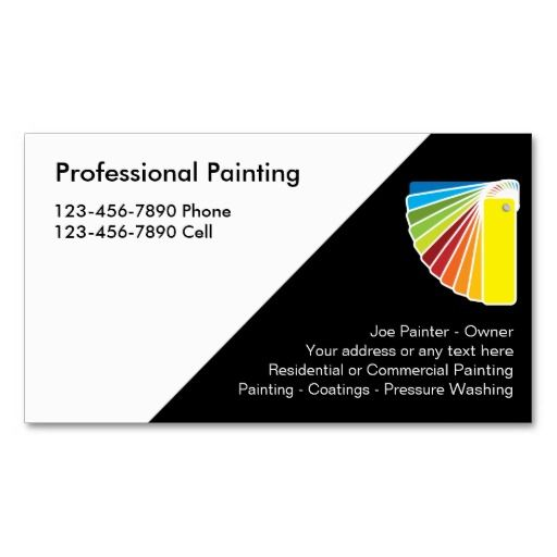 Best Painter Business Cards Images On Pinterest Business - Painter business card template