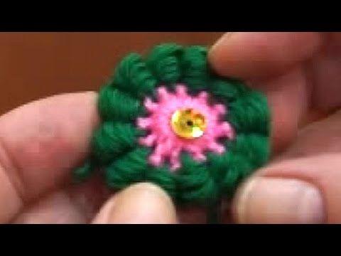 Элемент отделки крючком и спицей (finishing element crochet and knitting) - YouTube