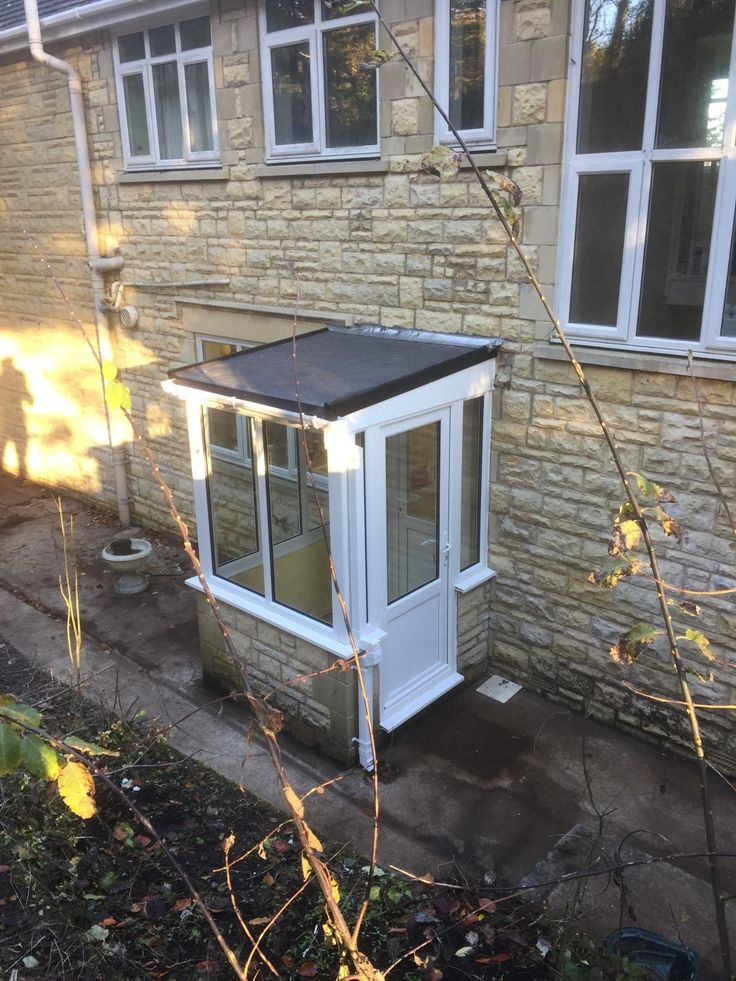 NEW white PVCU double glazed porch with new EPDM rubber
