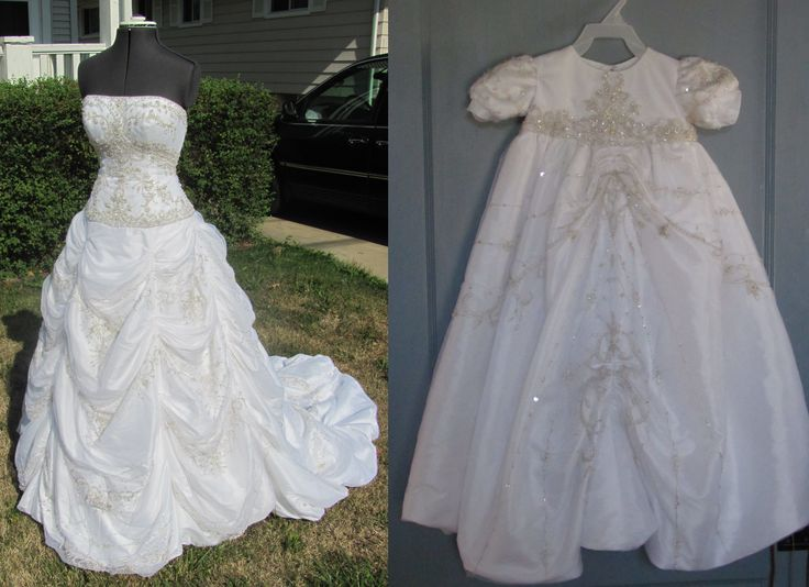 Popular I convert your wedding dress into a christening gown On this dress the beaded