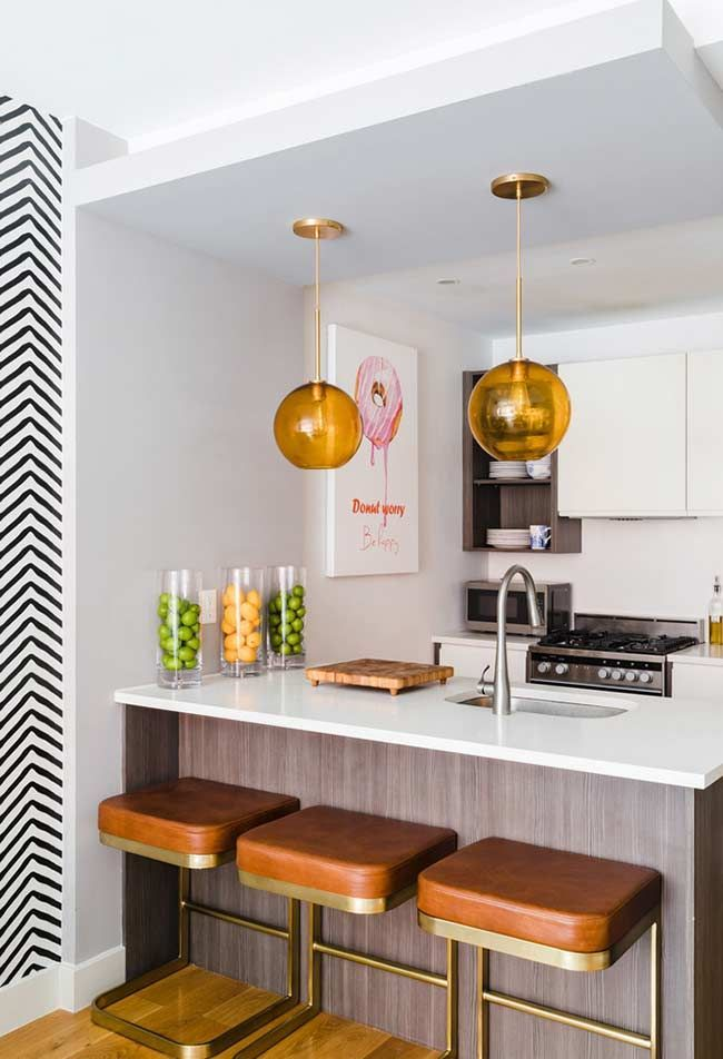 Luxury Kitchens Balcao De Refeicoes Integrado Com A Bancada Da Pia