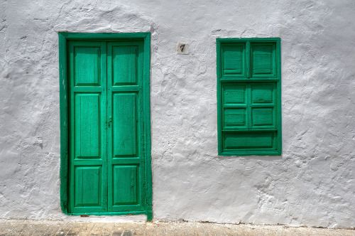 """burrcea: """" In the village of Teguise on the island of Lanzarote, the doors can only be green or brown. """""""