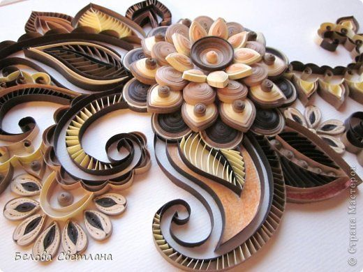 Painting mural drawing Quilling Mendy for Hamster + MK flower paper strips 4 photos