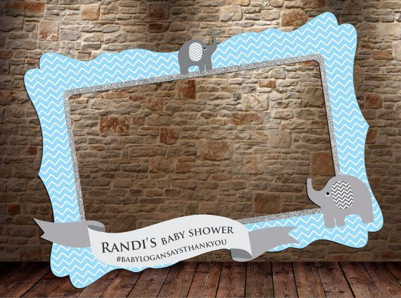 elephant photo booth frame digital file elephant by htcknit this would be fun to do at jesss baby shower