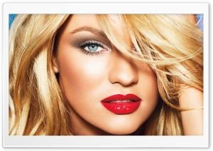 Candice Swanepoel Red Sexy Lips HD Wide Wallpaper for Widescreen