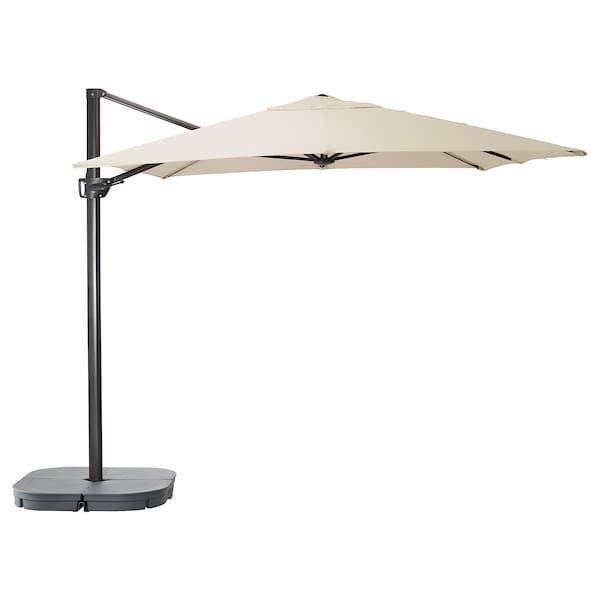 Seglaro Svarto Hanging Umbrella With Base Tilting Beige Dark