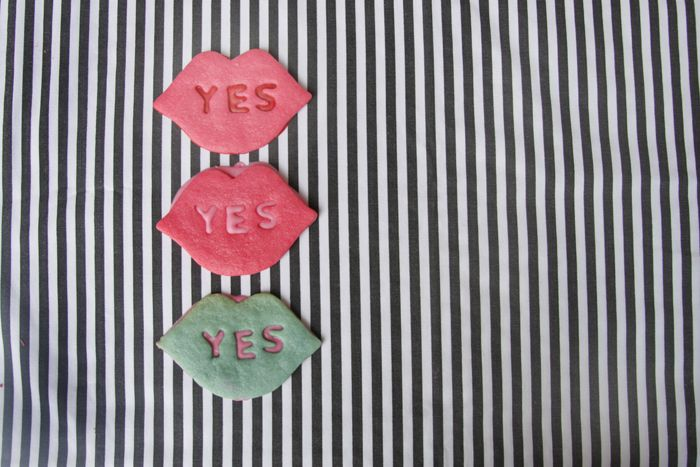 "Valentine's Day ""yes"" sugar cookies"