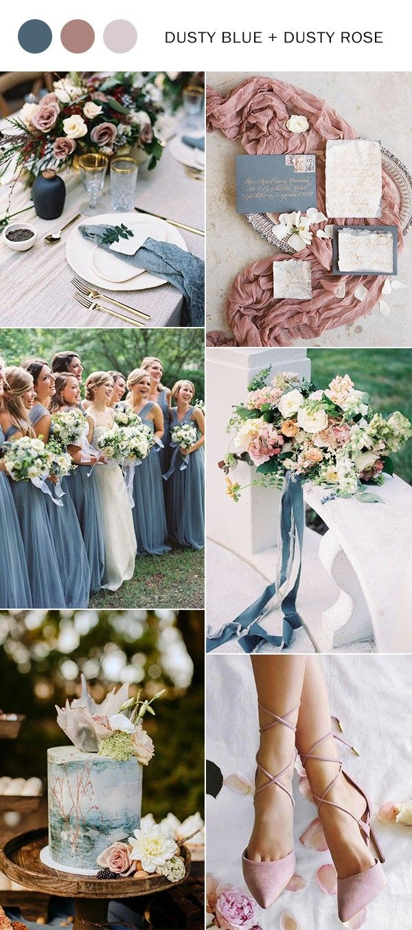 Top 10 Wedding Color Ideas for 2020 Trends Dusty rose