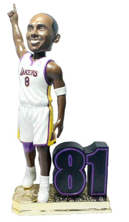 """Kobe Bryant (Los Angeles Lakers) 81 Point Game Commemorative 10"""" Bobble Head Exclusive #/248"""