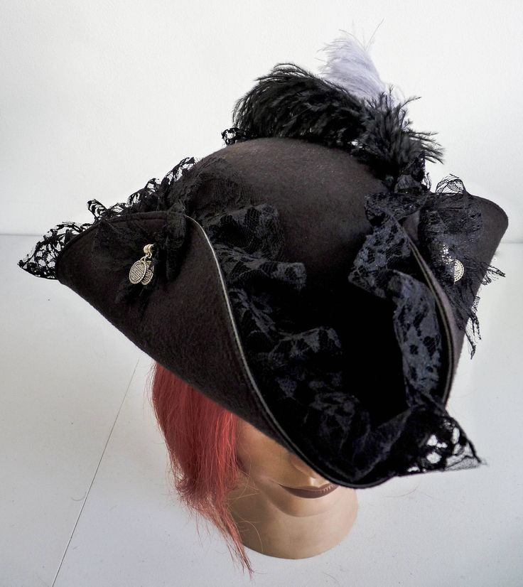 Ladies Pirate Hat, Tricorn Hat, Jack Sparrow Hat, Pirates Hat by LulunaClothing on Etsy