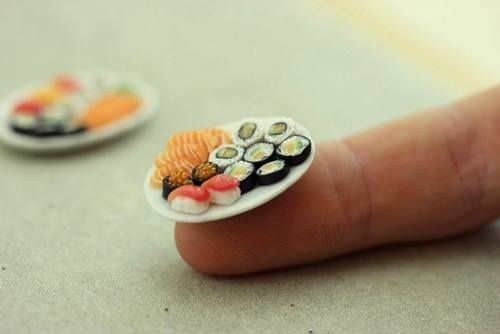 Mini-sushi. / 29 Adorably Tiny Versions Of Normal-Sized Things