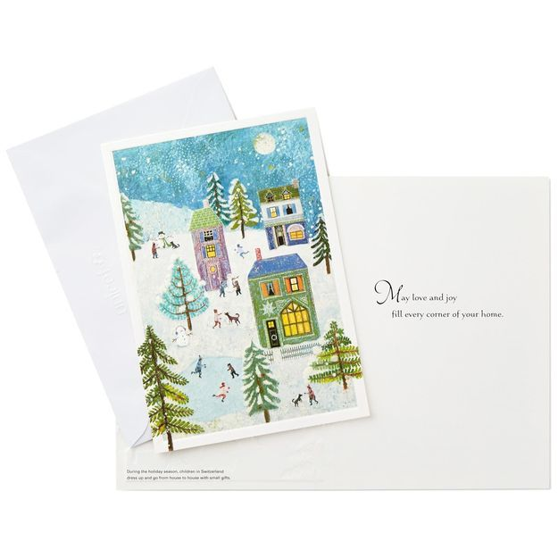 UNICEF Holiday Scene Christmas Cards, Box of 20