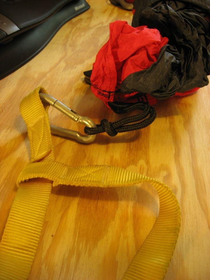 DIY hammock strap tree slings
