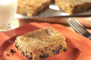 Pumpkin-Raisin Bars recipe http://www.kraftrecipes.com/recipes/pumpkin-raisin-bars-54833.aspx