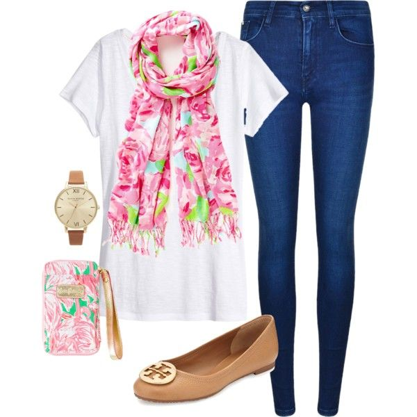 """My Spring """"Uniform"""" by sweet-southern-accent on Polyvore featuring H&M, Calvin Klein, Tory Burch and Olivia Burton"""