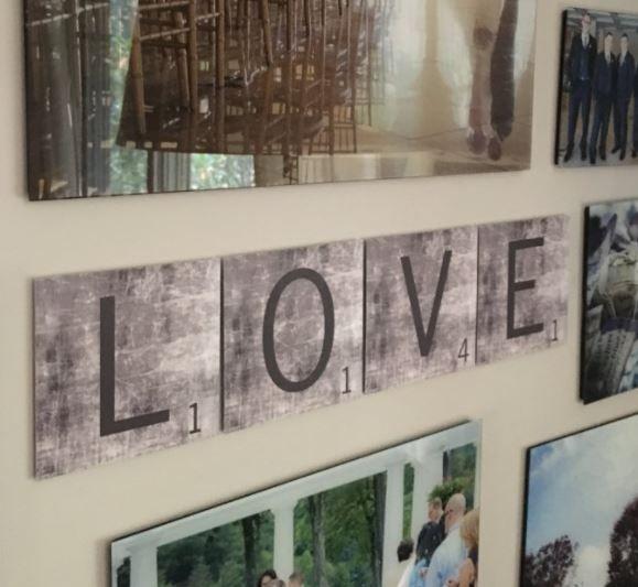 Metal Scrabble Wall Art $3.49 (Retail $6.99)