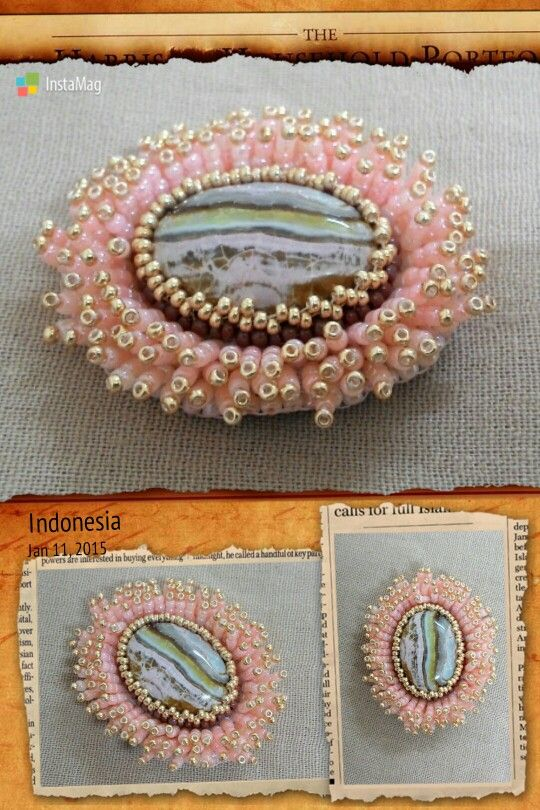 Cabochon with nest technic