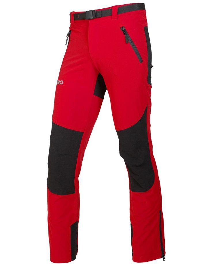 Pantalón técnico de montaña, tejido resistente al viento, repelente al agua, transpirable y elástico en 4 direcciones.