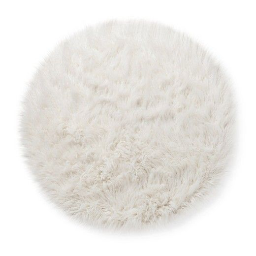 faux fur rug 3u0027 round white pillowfort - Faux Fur Rugs