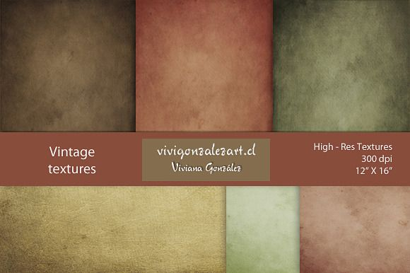 "Check out Vintage textures (12""X16"") by ViviGonzalezArt on Creative Market"