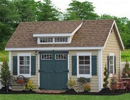 10x14 Premier Garden Shed with Dormer - traditional - sheds - philadelphia - Sheds Unlimited INC