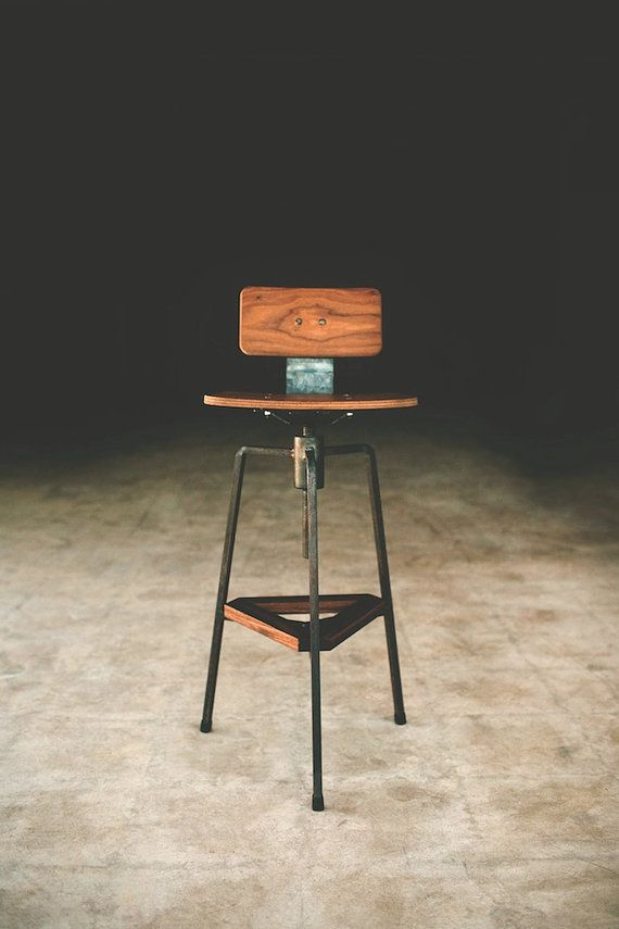 Tre stool, bar stool, desk stool, modern (can be made to any size)