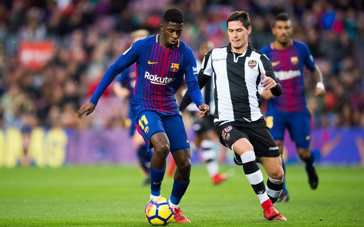 Download wallpapers Ousmane Dembele, 4k, Barcelona FC, Spain, football, La Liga, Levante