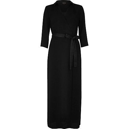 Black evening wrap maxi dress €30.00