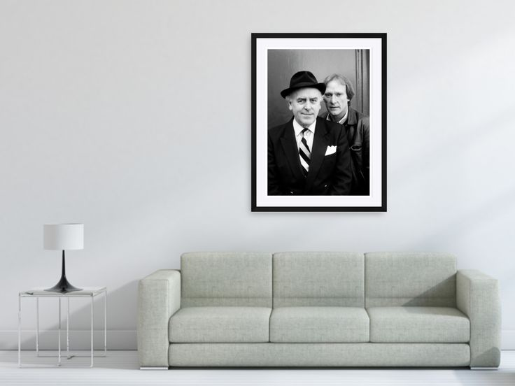 Minder TV Show - Actor George Cole and Dennis Waterman photographed on the set of 'Minder' in London, England in 1984. Photo by Terry Fincher. Large framed and unframed limited edition fine art prints.