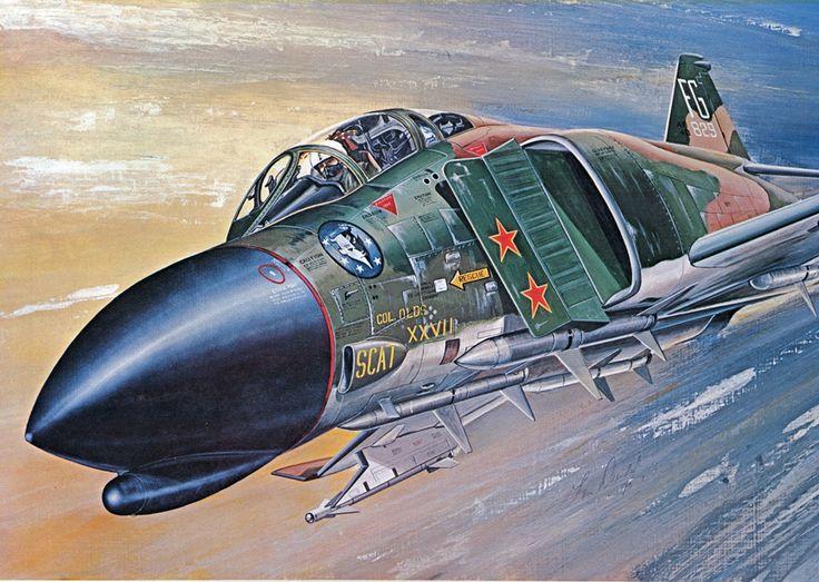 """F-4C Phantom II """"Scat XXVII"""" flown by Col. Robin Olds"""