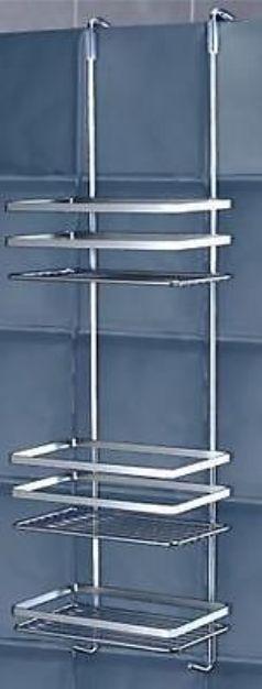 Glasbausteine 589-90 Hängeregal 3 Etagen ohne Bohren Duschablage Duschkorb