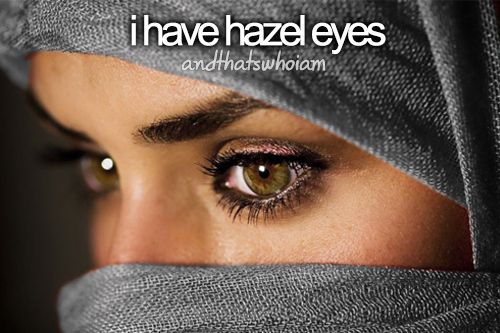 #andthatswhoiam I have hazel eyes and occasionally get grey / light blue... :D I have rainbow eyes~