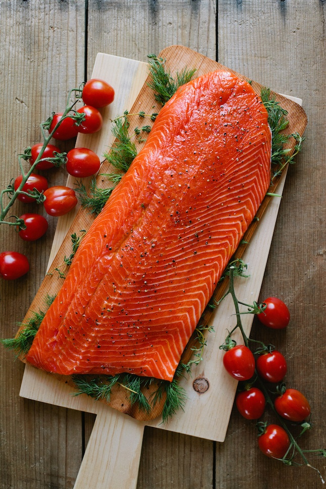 Slow-Roasted Salmon with Cherry Tomatoes and Couscous | Salmon, Copper ...