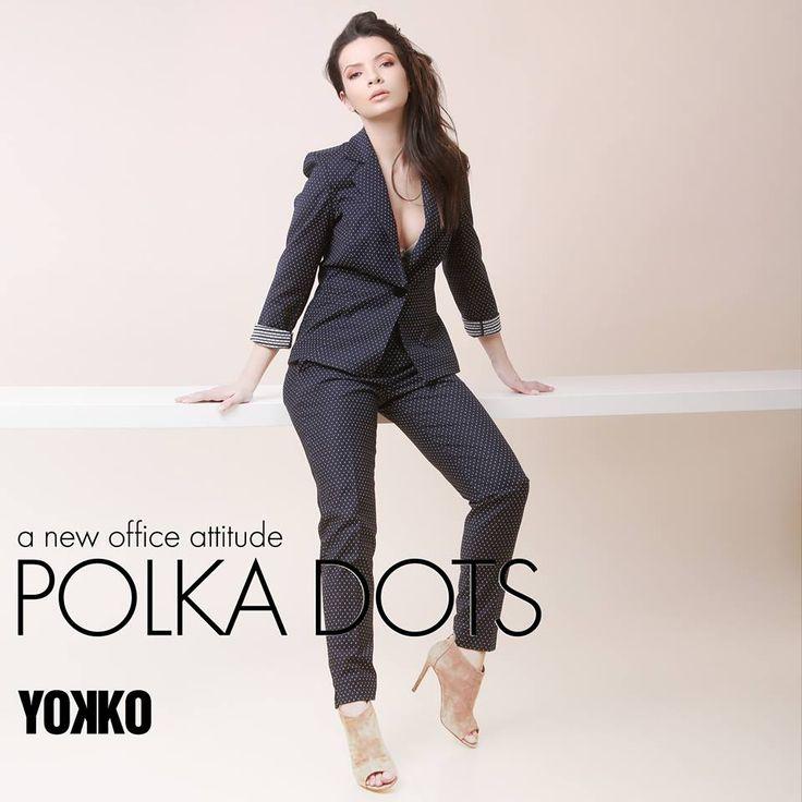 New office attitude POLKA DOTS spring17| YOKKO #office #dotts #dresscode #attitude #woman #fashion #spring17 #yokko