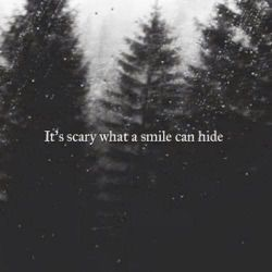 scary Black and White depressed depression sad lonely trees alone b&w dark rain self-harm upset sadness darkness demons fake smile fake smilies