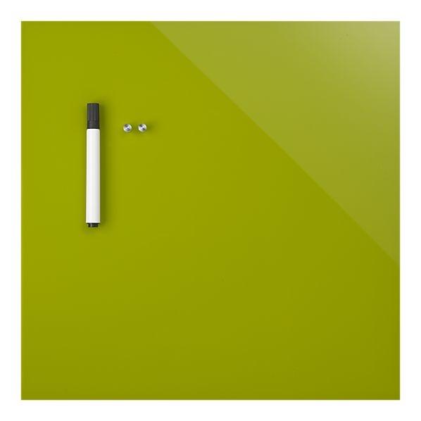 Magnetic wipe board - good organizer. Love the color.