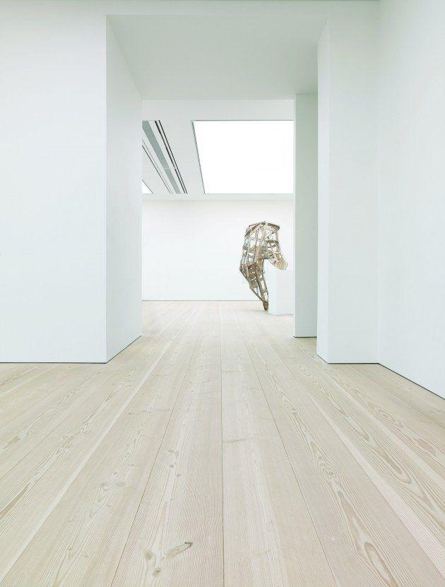 Wide plank flooring at Saatchi Gallery - Douglas by Dinesen