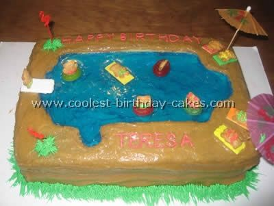 17 Best Images About Swimming Pool Cake Adah 39 S 6th Birthday On Pinterest Swimming Pool Cakes