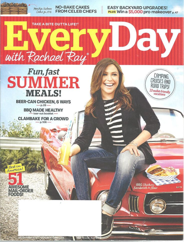 Every Day With Rachel Ray Magazine July/August 2015 Summer MealsRecipes Cooking…