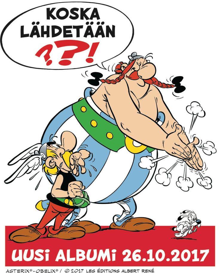 Jihuu! Uusi Asterix saapuu viihdyttämään meitä syksyllä! #sarjisparhaus #Asterix #huumori