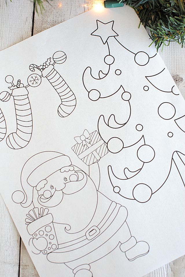 Free Printable Christmas Coloring Pages Extras