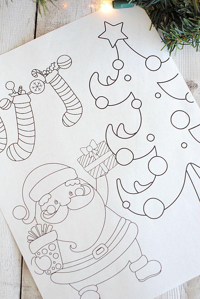 Free Printable Christmas Coloring Pages Printable
