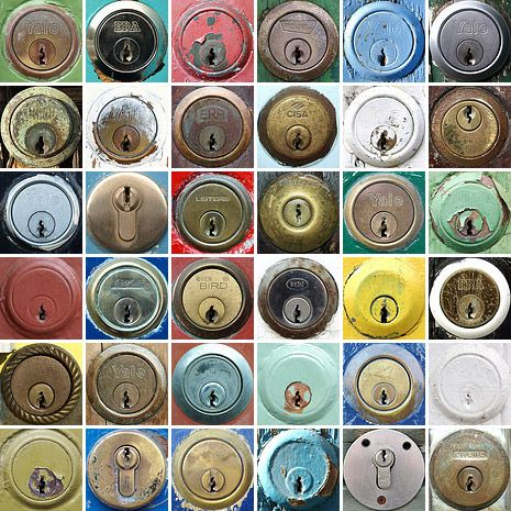 Flickr user chrisinplymouth's wonderful collection of doorlocks and letters.