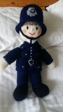 Policeman knitting project shared on the LoveKnitting Community