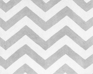 Zig Zag Gray & Black Chevron Floor Rug by Sweet Jojo Designs - traditional - kids rugs - Tiny Totties