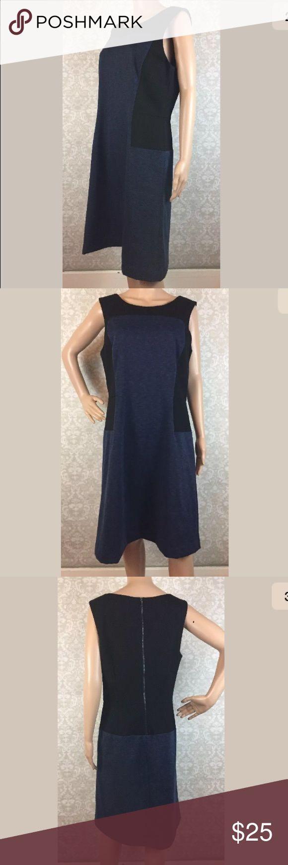 "Ann Taylor sleeveless colorblock dress Gently used Ann Taylor colorblock sleeveless dress, size 12.   Armpit to armpit-19.5""  Armpit to hem-30.5"" Ann Taylor Dresses"