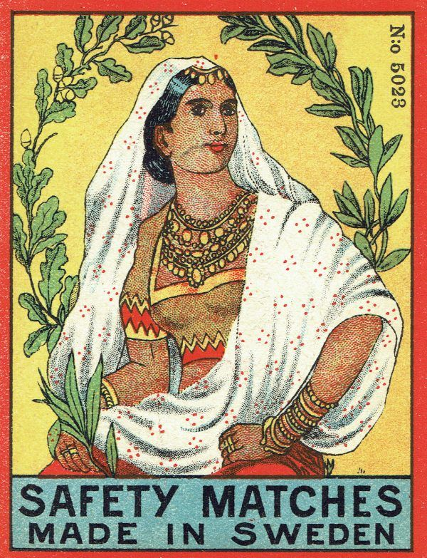 Early Swedish matchbox labels for India – OLD IMAGINERY