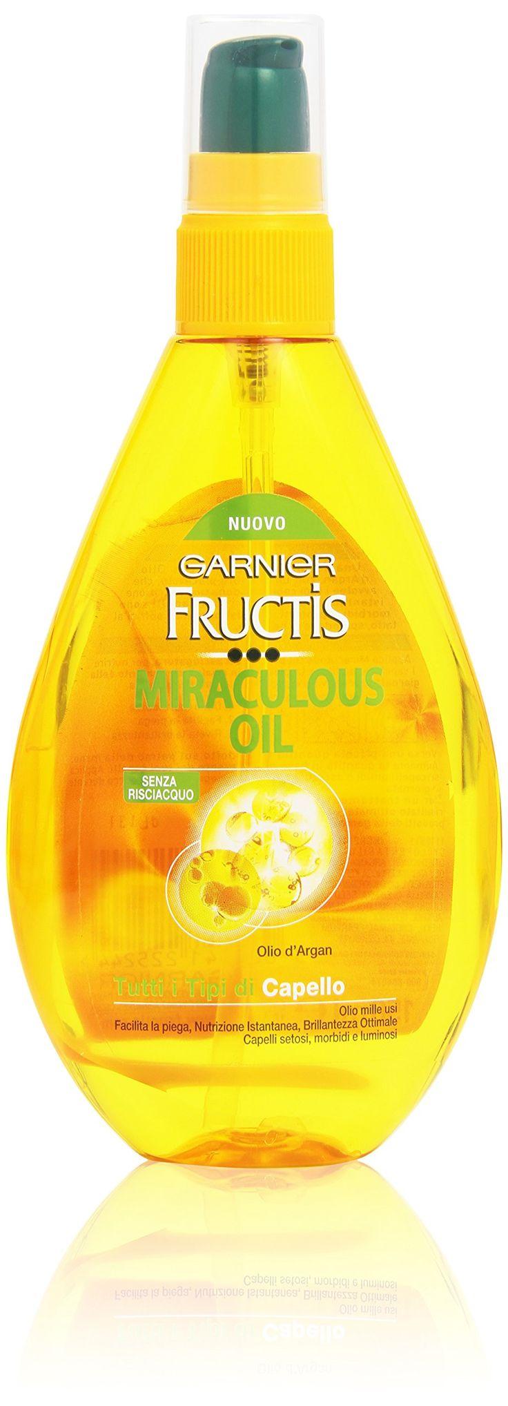 Garnier – Fructis, Miracoloso Olio, Formula Arricchita con Olio d'Argan per capelli – 150 ml…