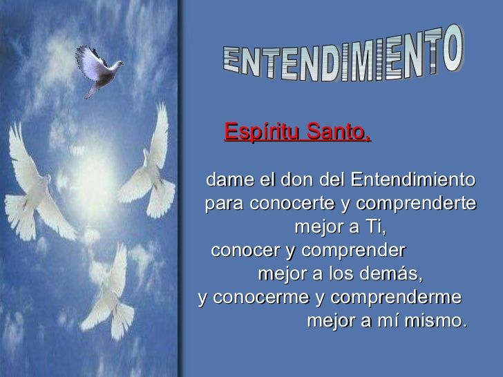 Resultado de imagen para El segundo don del Espíritu Santo es el entendimiento
