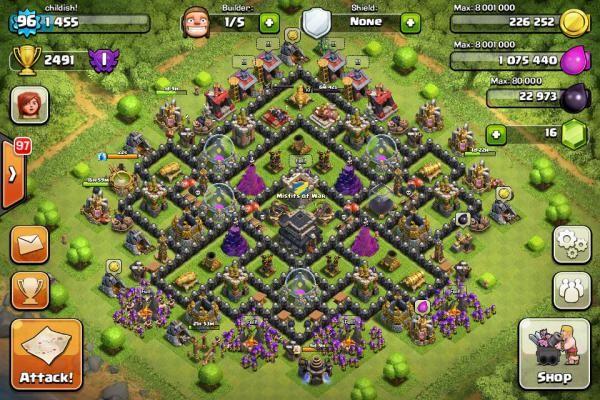 Coc Th Lvl 9 Base 8
